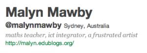 Blog link on Twitter profile