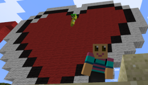 Megan and I in Massively Minecraft